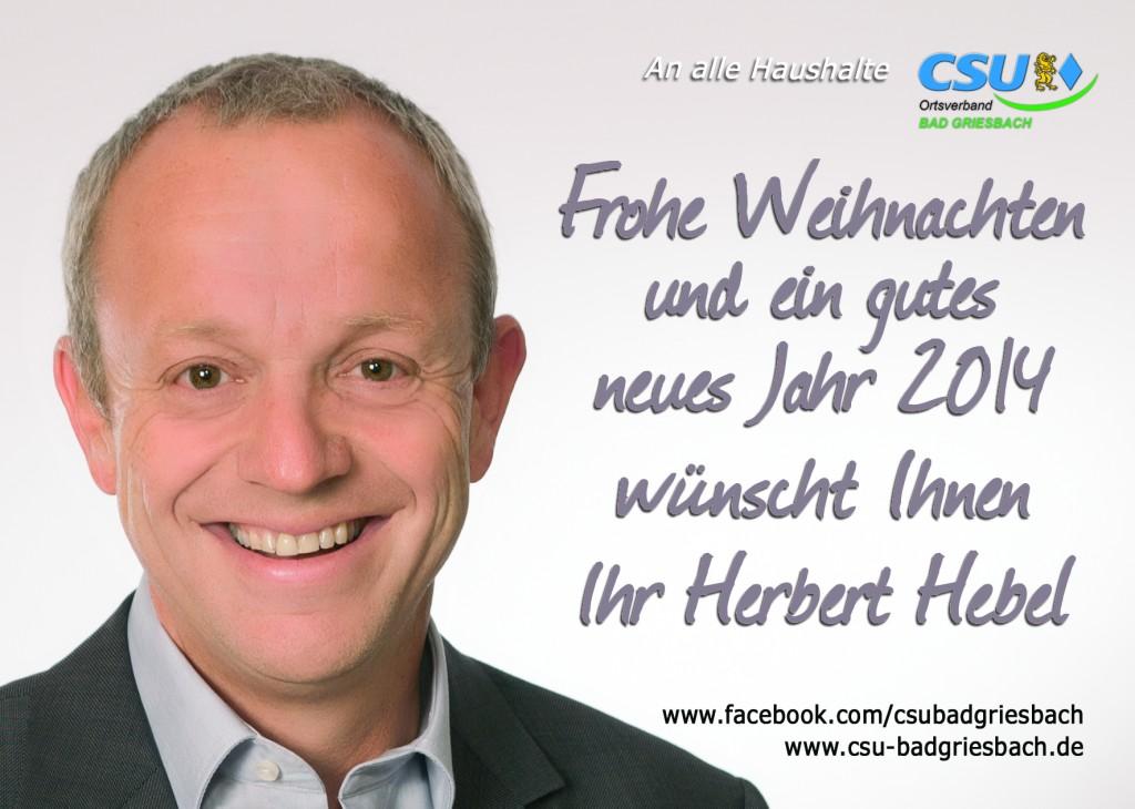 CSU Weihnachtskarte_Herbert Hebel